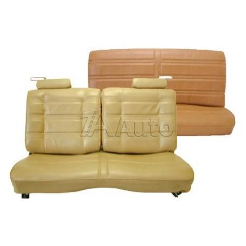 1978-80 Monte Carlo Regal Cutlass GP Seat Upholstery Set Straight Bench With 50/50 Split Back Head Rests and Rear Bench in Vinyl