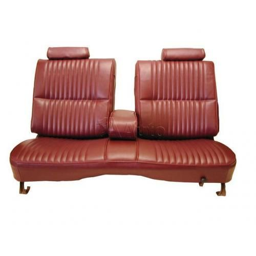 1978-80 El Camino Caballero Seat Upholstery 50/50 Bench With Split Back Head Rests & Center Armrest in Madrid Grain Vinyl