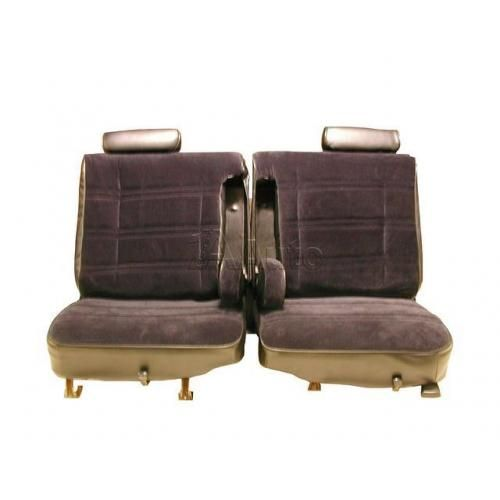 1978-80 El Camino Caballero Seat Upholstery 50/50 Bench With Split Back Head Rests & Dual Armrests in Cloth & Vinyl