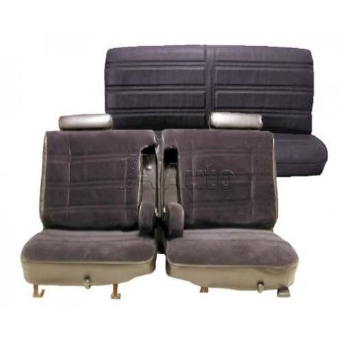 1978-80 Monte Carlo Regal Cutlass GP Seat Upholstery Set 50/50 Bench Split Back Head Rests Dual Armrests and Rear Bench in Cloth