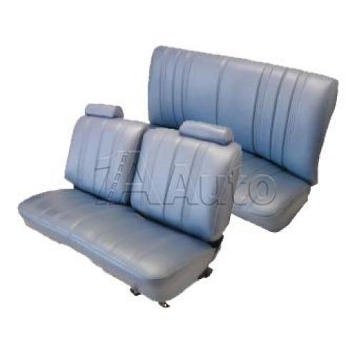 1978-82 Monte Carlo Regal Cutlass GP Seat Upholstery Set Straight Bench Split Back Head Rests and Rear Bench in Vinyl