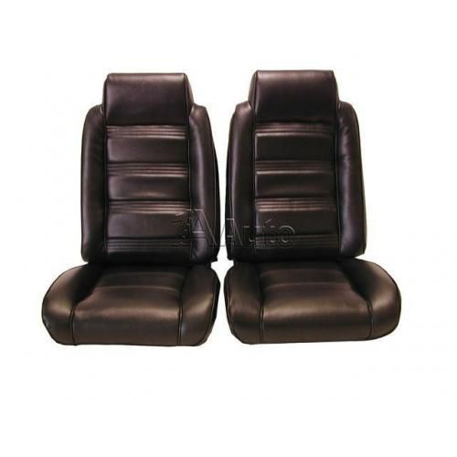 1978-81 El Camino Caballero Seat Upholstery High Back Bucket Seats in Cloth & Vinyl