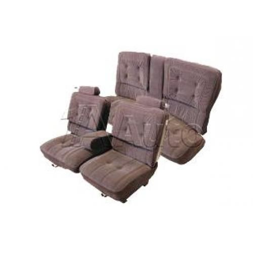 1981-87 Monte Carlo Regal Cutlass Luxury Seat Upholstery Set 55/45 Bench Seat Head Rests Center Armrest and Rear Bench in Cloth