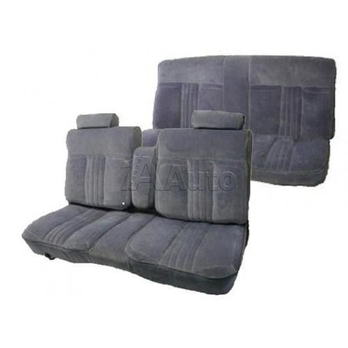 1981-87 GM G Body Deluxe Seat Upholstery Set Solid Bench Seat Split Back Head Rests Center Armrest and Rear Bench in Cloth