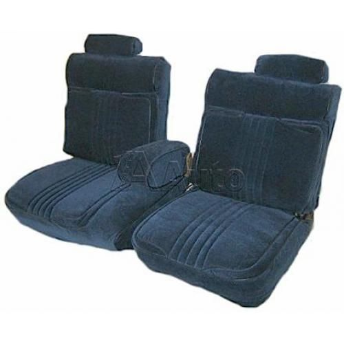 1981-87 GM G Body Deluxe Seat Upholstery Set 55/45 Split Bench Seat Head Rests Center Armrest and Rear Bench in Cloth