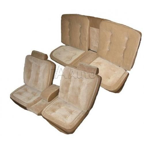 1981-88 Cutlass Supreme 2dr Luxury Seat Upholstery Set 55/45 Bench Seat Head Rests Center Armrest and Rear Bench in Cloth