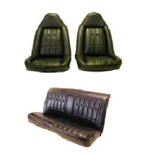 74-77 Chevy Chevelle Monte Carlo Cutlass Regal Grand Prix Swivel Seat and Rear Bench Seat Upholstry