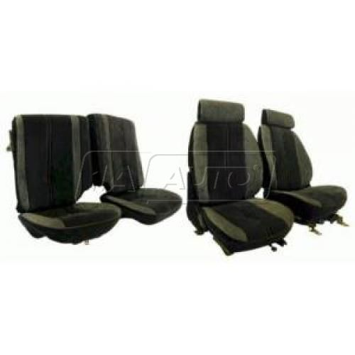 85-87 Chevy Camaro Seat Upholstery Complete in Hampton Vinyl Solid Color for Solid Rear Seat