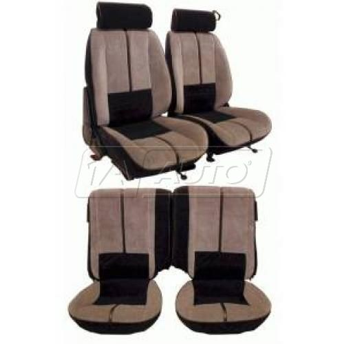 88-92 Chevy Camaro Seat Upholstery Complete in Hampton Vinyl Solid Color for Split Rear Seat