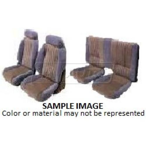 82-84 Pontiac Firebird Trans Am Seat Upholstery for Split Rear Seat X161 Charcoal Encore Velour