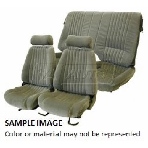 85-92 Pontiac Firebird Trans Am Seat Upholstery for Split Rear Seat X161 Charcoal Encore Velour