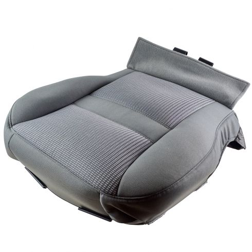 07-08 Dodge Ram 1500 Quad Cab Front Lower Bucket Seat Bottom (Slate Gray) Cloth Cover LF (MP)