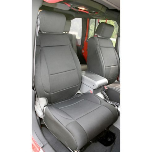Neoprene Front Seat Covers, Black, 11-14 Jeep Wrangler