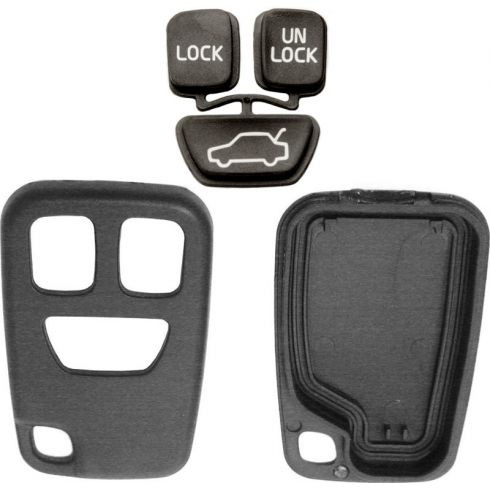 98-04 C70; 00-04 S40; 98-00 S70; 00-04 V40; 98-00 V70 3 Buttom Key FOB Case & Insert