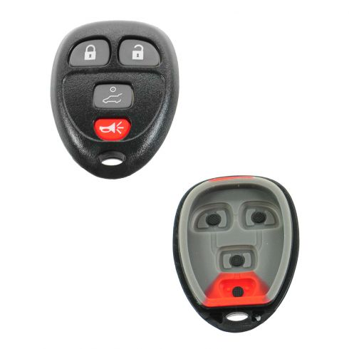 04-12 GM Multifit (w/o Remote Start) 4 Button Keyless Entry Remote Transmitter Case w/Insert