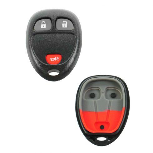 05-06 GM Mid Size SUV (3 Button) Keyless Remote Case w/Insert (ID: KOBGT04A, M3N5WY8109, OUC60221)