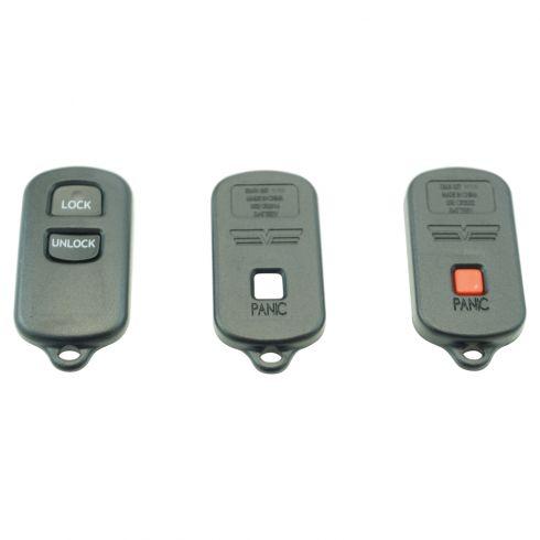 00 Camry; 03-08 Corolla; 99-03 Sienna, Solara (2 But) Keyless Rem Cse w/In (ID: GQ43VT14T, HYQ12BBX)