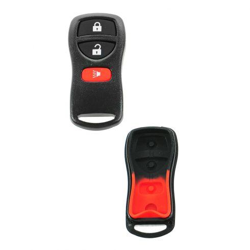 01-12 Nissan Multifit (3 Button) Keyless Remote Case w/Insert (FCC ID: KBRASTU15)