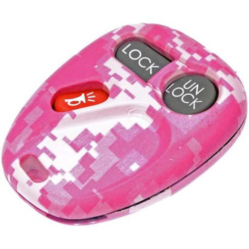 98-04 GM Full Size PU, SUV (3 Button) Pink Keyless Remote Case w/Insert (FCC ID: KOBUT1BT) (Dorman)