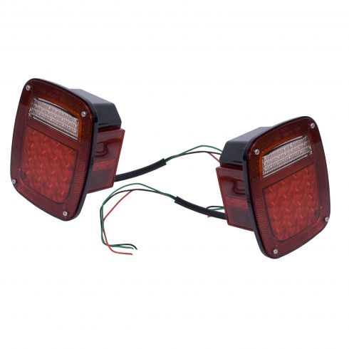 LED Tail Light Set, 76-06 Jeep CJ, Wrangler