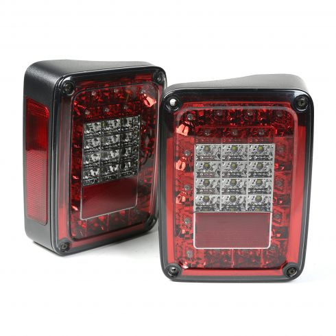 LED Tail Light Set, Smoke, 07-14 Jeep Wrangler