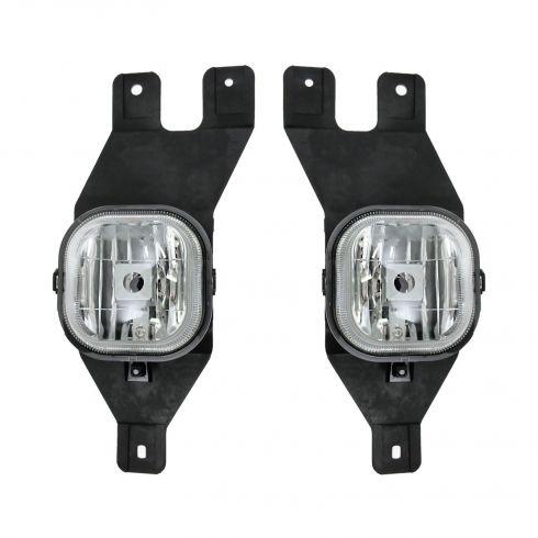 01-04 Ford Super Duty Pickup Fog Light w/Bracket Pair