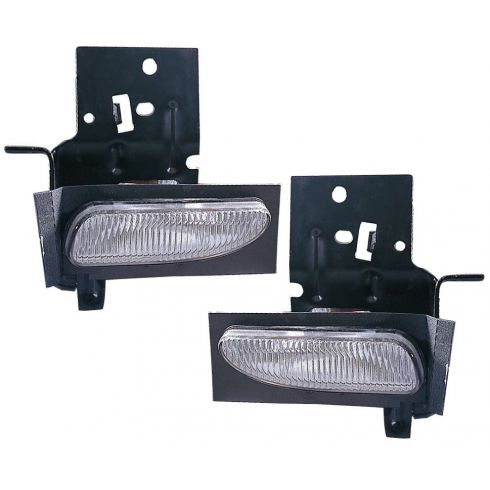96-98 Ford Mustang Rectangular Fog Light w/Brkt Pair