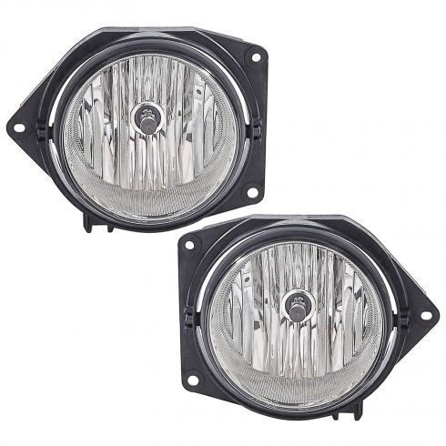 2006-09 Hummer H3;  2009 H3T Fog Light w/o Bulb Shield (2nd Design) PAIR