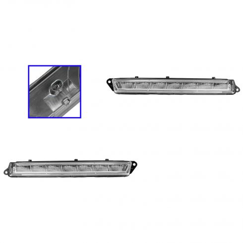12-13 MB ML63; 07-12 Gl Series; 13 GL350, GL450, GL550AMG Fog Driving Light PAIR