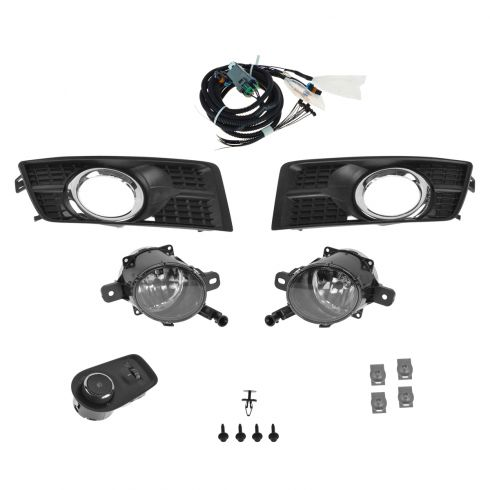 10-15 Cadillac SRX Complete Factory Fog/ Driving Light Upgrade Kit w/Wiring & Mounting Hardware (GM)