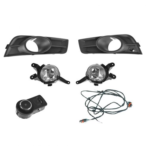 11-14 Chevy Cruze Complete Factory Fog/ Driving Light Upgrade Kit w/Wiring & Mounting Hardware (GM)
