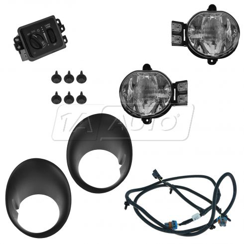 02-05 Dodge Ram 1500; 03-05 Ram 2500, 3500 Dealer Installed Fog Light Kit (MOPAR)