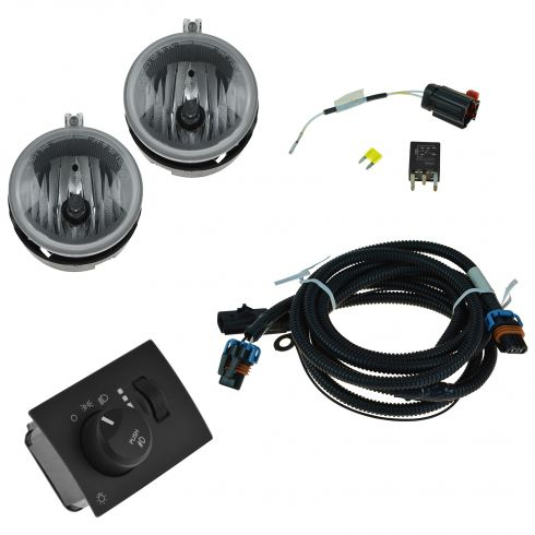 06-07 Dodge Charger Dealer Installed Complete Fog/ Driving Light Installation Kit (Mopar)