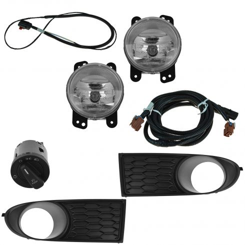 11-15 Ddge Journey (w/o Auto HL) Dealer Installed Complete Fog/ Driving Light Installation Kit (Mpr)