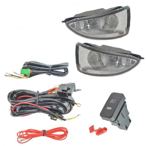 04-05 Honda Civic Add-on Clear Lens Fog Light Pair w/ Installation Kit