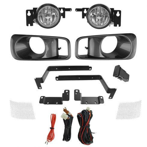 99-00 Honda Civic Add-on Clear Lens Fog Light Pair w/ Installation Kit
