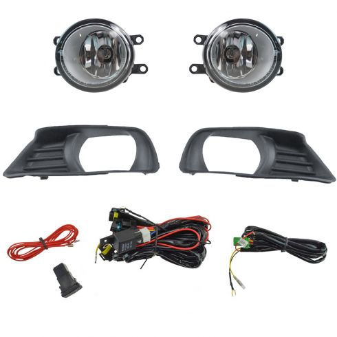 07-09 Toyota Camry Add-on Clear Lens Fog Light Pair w/ Installation Kit