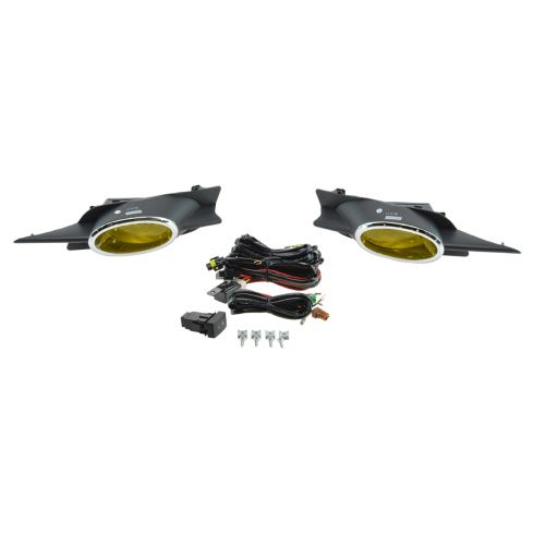 09-11 Honda Civic Coupe Add-on Yellow Lens Fog Light Pair w/ Installation Kit