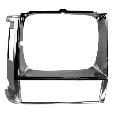 84-90 Jeep Cherokee; 86-90 Comanchee; 84-85 Wagoneer Headlight Bezel Chrome RH