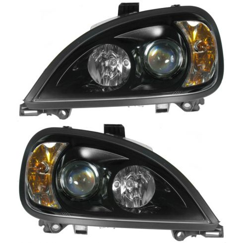 Freightliner Columbia 96-11 HL ASY PROJECTOR BLK SET