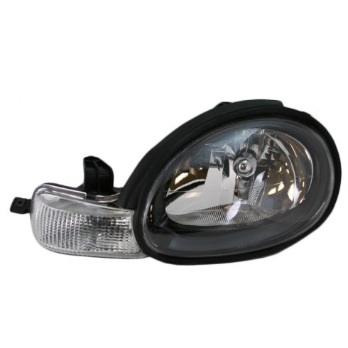 2000-02 Dodge Neon Composite Headlight (w black bezel) LH