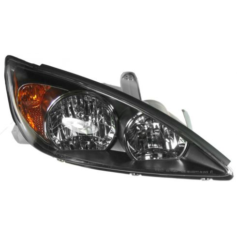 02-04 Toyota Camry SE Headlight w/Black Trim RH