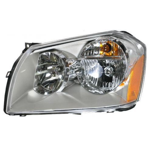 2005-08 Dodge Magnum Headlight w/Chrome Background LH