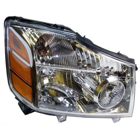 04-07 Nissan Armada Titan Headlight Passenger sSide