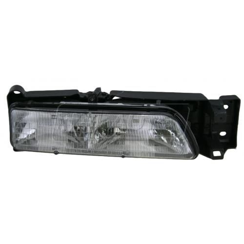 1989-92 Pontiac Sunbird Headlight Black Trim Not Concealed Passenger Side