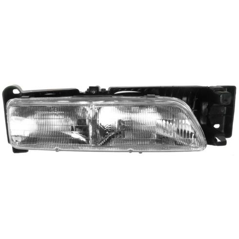 1992-94 Pontiac SUNBIRD Headlamp Assembly RH Without Hide Away Headlamps