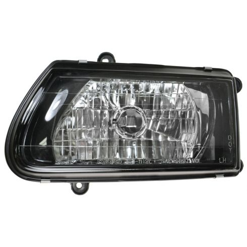 2000 Isuzu AMIGO Headlight Assembly LH W/Black BEZEL