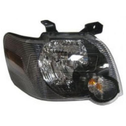 2006-09 Ford Explorer: 2007-09 Sport Trac w/Black Background Headlight RH