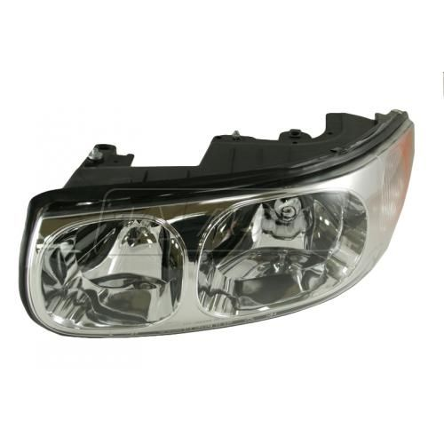 00 Buick LeSabre Limited Headlight without Lined Hi-Beam Lens LH
