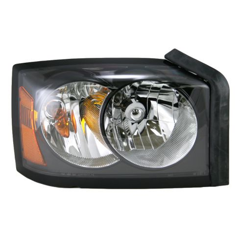 06-06 Dodge Dakota (w/ black) Headlight RH